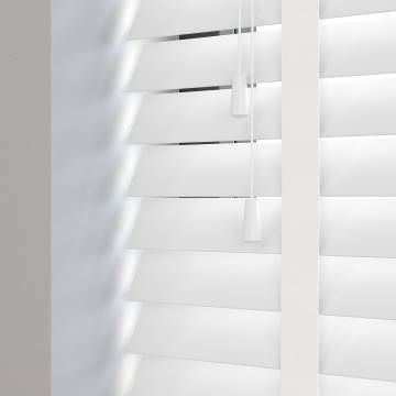 Wooden Blinds Deco Taped True White