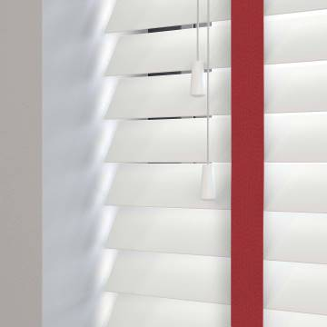 Wooden Blinds Deco Taped True White with Contrast Vamp Tape