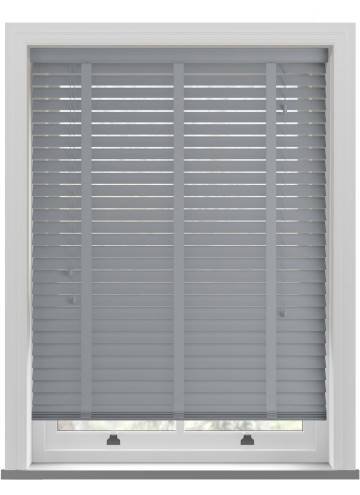 Wooden Blinds Ecostyle Taped Bali Steel Grey