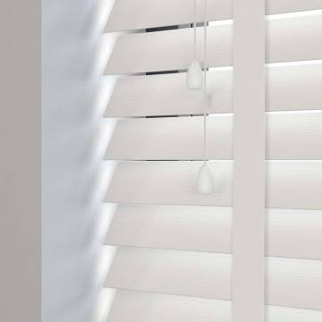 Wooden Blinds Ecostyle Taped Chalk