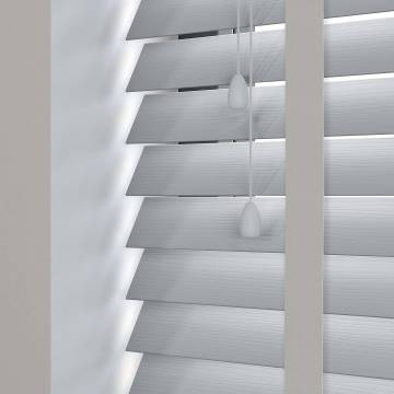 Wooden Blinds Ecostyle Taped Grained Sterling