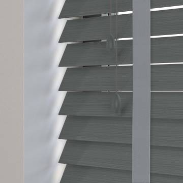 Wooden Blinds Ecostyle Taped Java Slate Grey