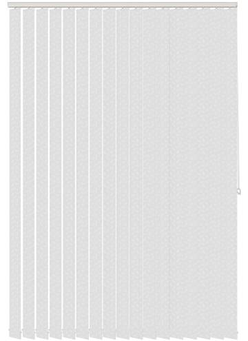Replacement Vertical Blind Slats Flutter Sheer White