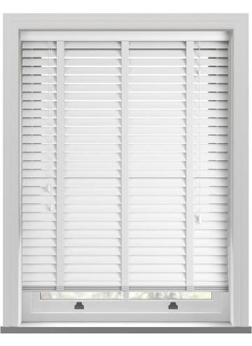 Wooden Blinds Gloss Taped Pure Brilliant White