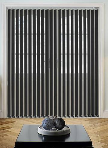 Vertical Blinds Guardian Jet Black