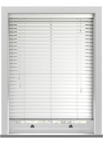 Wooden Blinds Impressions Porcelain White