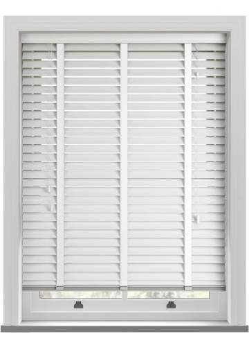 Wooden Blinds Impressions Taped Porcelain White