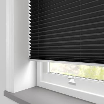 Pleated Free hanging Blinds Kana Black