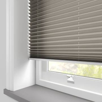 Pleated Free hanging Blinds Kana Hazelnut Latte