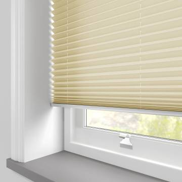 Pleated Free hanging Blinds Kana Light Gold