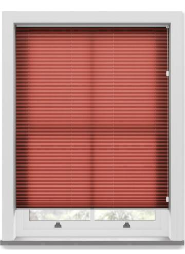 Pleated Free hanging Blinds Kana Merlot Red