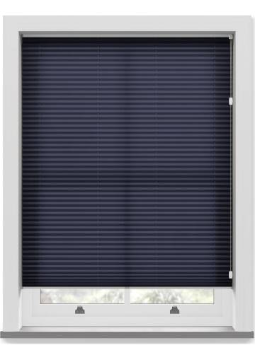 Pleated Free hanging Blinds Kana Navy Blue