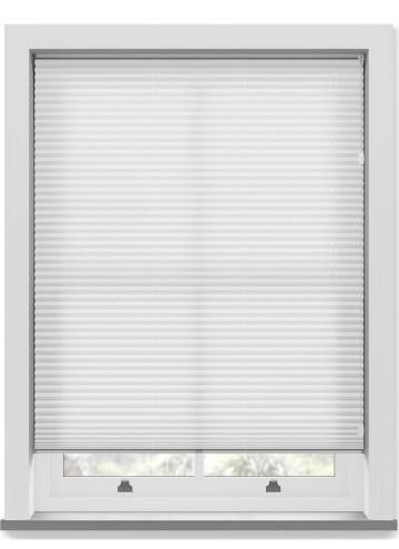 Pleated Free hanging Blinds Kana Perla White