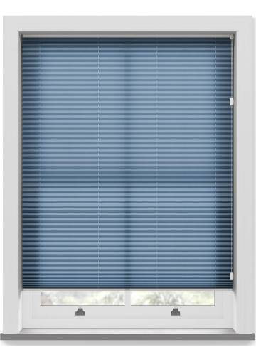 Pleated Free hanging Blinds Kana Sky Blue