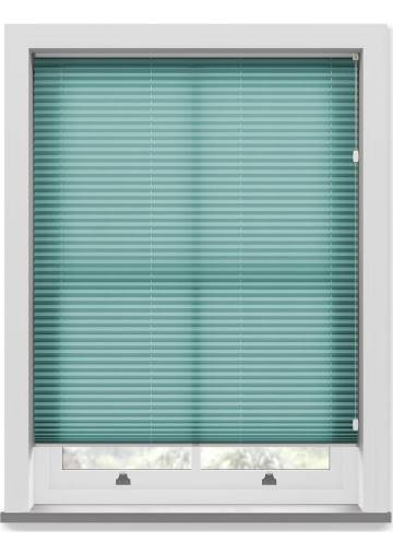 Pleated Free hanging Blinds Kana Turquoise