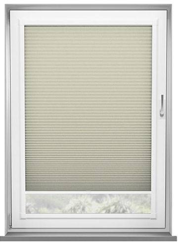 Perfect Fit Pleated Blinds Lexington Blockout Cream