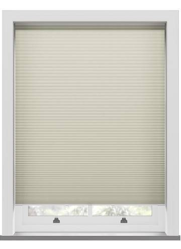 Pleated Blinds Lexington Blackout Cream