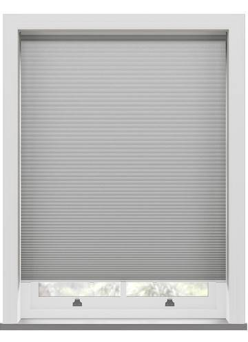 Pleated Blinds Lexington Blackout Dove Grey