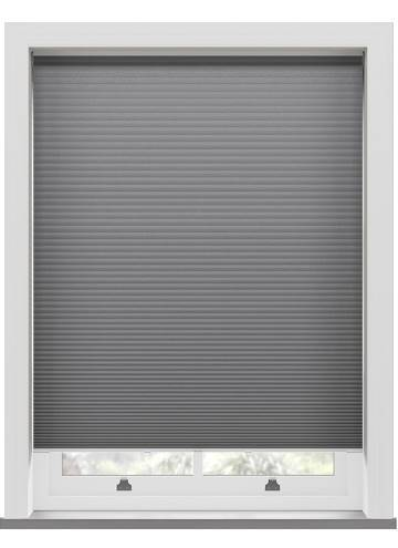 Pleated Blinds Lexington Blackout Grey