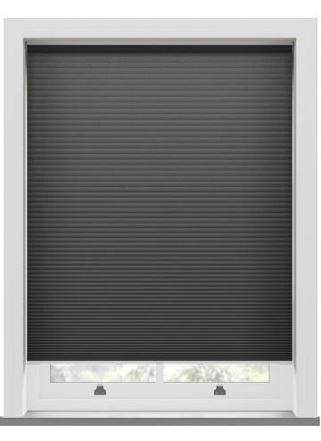 Pleated Blinds Lexington Blackout Onyx