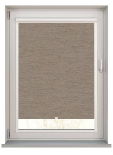Perfect Fit Roller Blinds Lintex PVC Blackout Taupe Brown