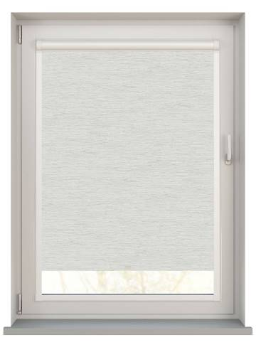 Perfect Fit Roller Blinds Lintex PVC Blackout Whisp Grey White