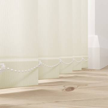 Replacement Vertical Blind Slats Lucca Blackout Cream
