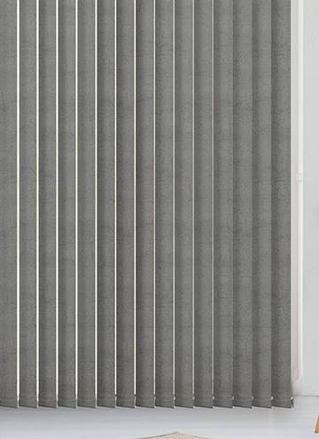 Vertical Blinds Metz PVC Blackout Ash Grey