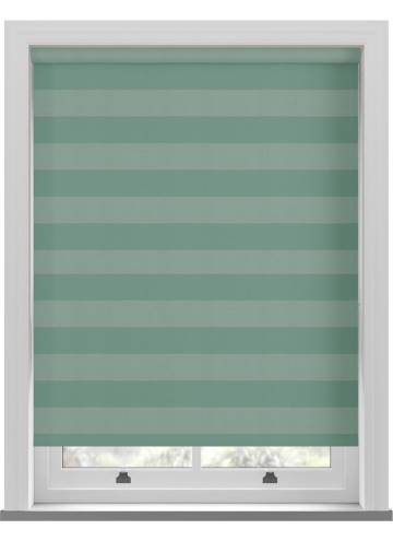 Roller Blinds Midas Stripe Blackout Aqua Green