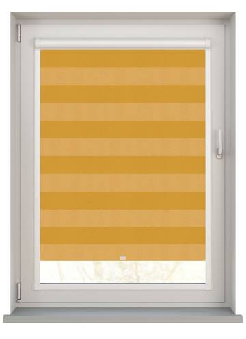 Perfect Fit Roller Blinds Midas Stripe Blackout Citrine Yellow