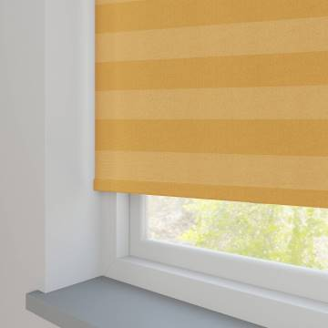 Roller Blinds Midas Stripe Blackout Citrine Yellow