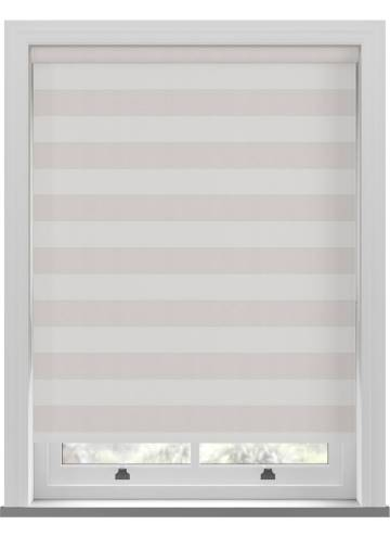 Roller Blinds Midas Stripe Blackout Crystal