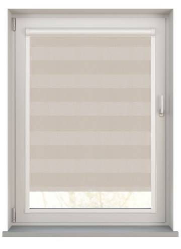 Perfect Fit Roller Blinds Midas Stripe Blackout Opal Cream