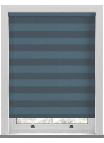Roller Blinds Midas Stripe Blackout Sapphire Blue