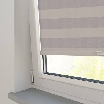 Perfect Fit Roller Blinds Midas Stripe Blackout Shadow Grey
