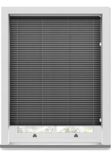 Pleated Free hanging Blinds Mirabella Solar Crush Black