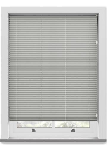 Pleated Free hanging Blinds Mirabella Solar Crush Concrete Grey