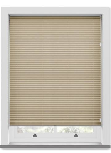 Pleated Free hanging Blinds Mirabella Solar Crush Flax