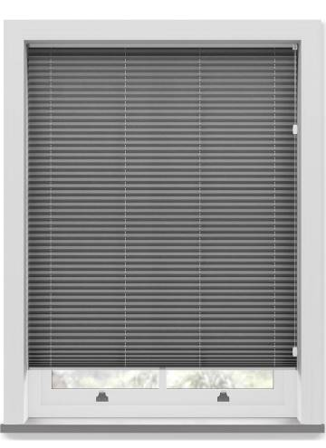 Pleated Free hanging Blinds Mirabella Solar Crush Graphite