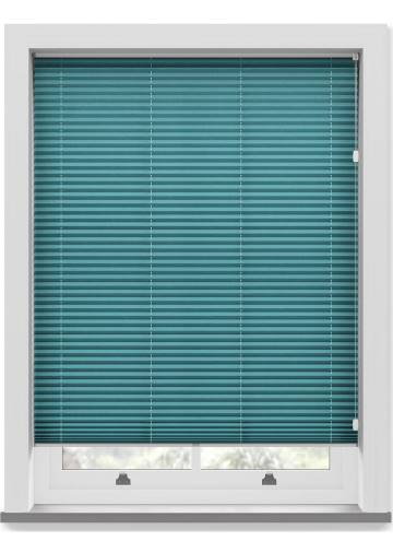 Pleated Free hanging Blinds Mirabella Solar Crush Ink Blue