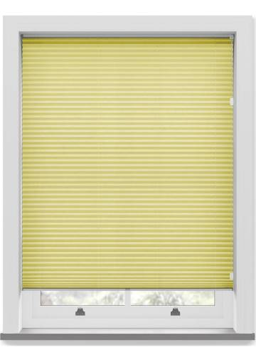 Pleated Free hanging Blinds Mirabella Solar Crush Lemon