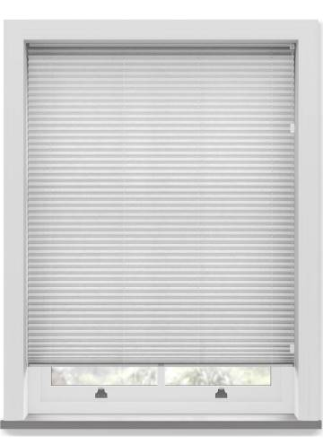 Pleated Free hanging Blinds Mirabella Solar Crush Marble White