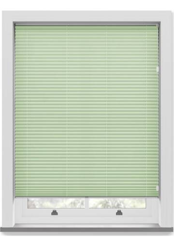 Pleated Free hanging Blinds Mirabella Solar Crush Mint Green