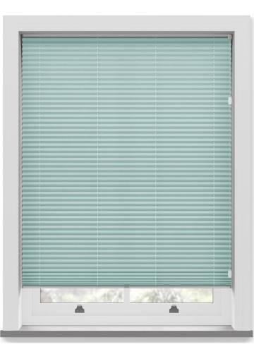 Pleated Free hanging Blinds Mirabella Solar Crush River Blue