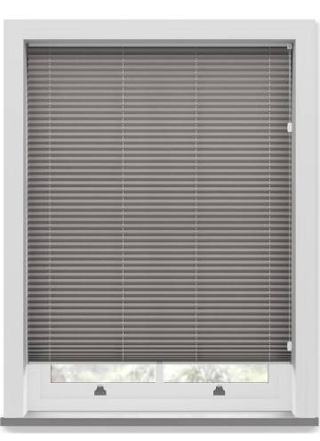Pleated Free hanging Blinds Mirabella Solar Crush Smoke Grey