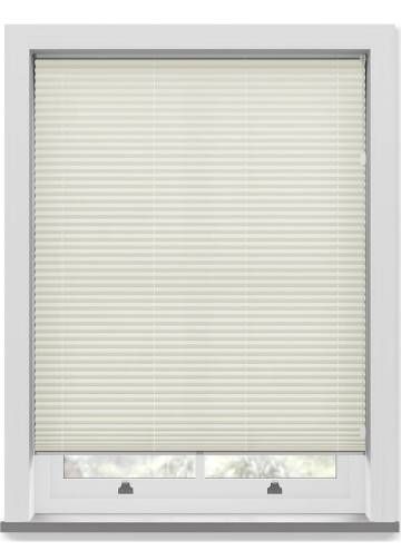 Pleated Free hanging Blinds Mirabella Solar Crush Warm Cream