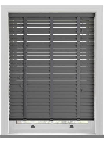 Wooden Blinds Mississippi Taped Anthracite Grey