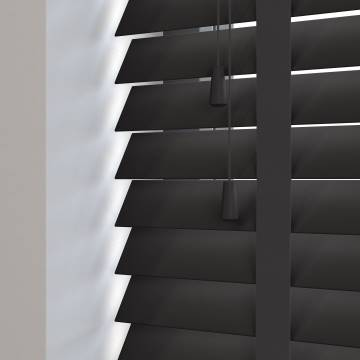 Wooden Blinds Mississippi Taped Black