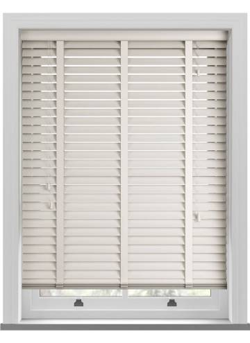 Wooden Blinds Mississippi Taped Cream