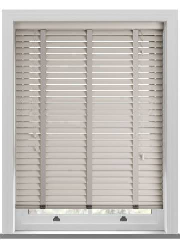 Wooden Blinds Mississippi Taped Dove Grey